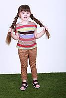 Детские брюки для девочки,225KIDSBROWN р. 98, 104, 110, 116, 122, Коричневый