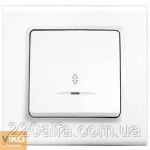 Выключатель проходной с подсветкой Viko Linnera, белый, 1 кл.
