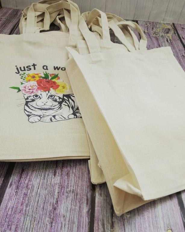 Хлопковая эко-сумка с полноцветной печатью
