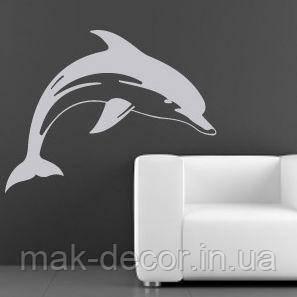 Виниловая наклейка- Дельфин (цена за размер 60х78  см)