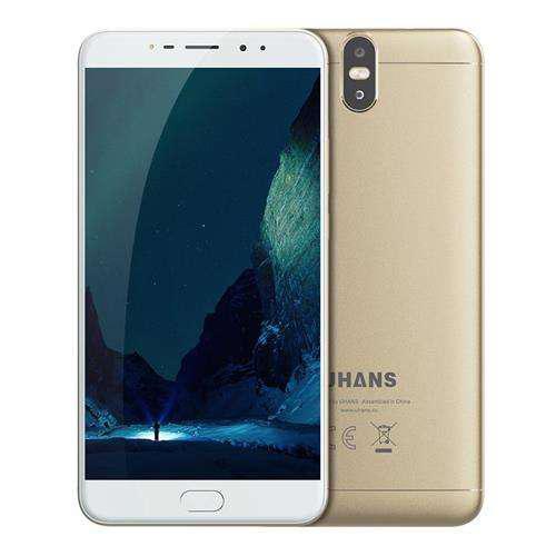 """Смартфон Uhans Max 2 4/64Gb Gold, 13+2/13+2Мп, 6.44"""" IPS, 4300mAh, 2sim, MT6750T, 8 ядер, 4G (LTE)"""