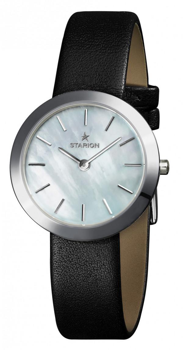 Годинник жіночий STARION J064 S/White чорний рем.