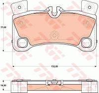 Тормозные колодки AUDI Q7, PORSCHE CAYENNE задние  (пр-во TRW)