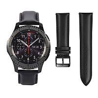 Кожаный ремешок для часов Samsung Gear S3 Classic SM-R770/Frontier RM-760 - Black
