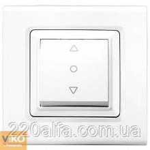 Кнопочный выключатель для жалюзи Viko Linnera, белый, 1 кл.