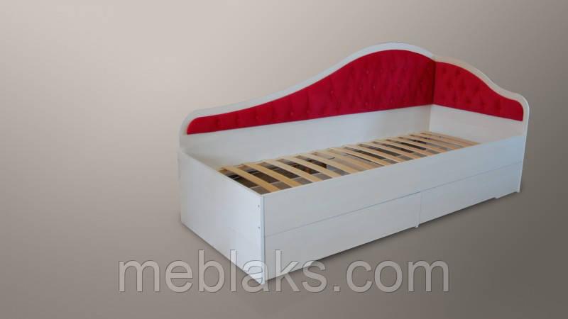 """Кровать """"Л-8"""" односпальная с мягкой спинкой Lion"""