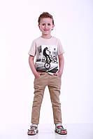 Детские летние брюки для мальчика, р. 90, 96, 102, 108, 114, 120, Коричневый