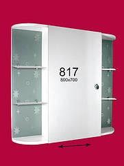 Шкаф-зеркало (80*70*14см) ШК817
