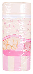 Термоконтейнер Ceba Baby Jumbo 70*80*230мм универсальный  беж-розовый (зайцы,слон,медведь)
