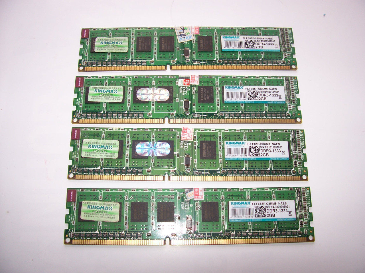2Gb  DDR3 1333 Mhz   Intel/AMD Б/У Оперативная память