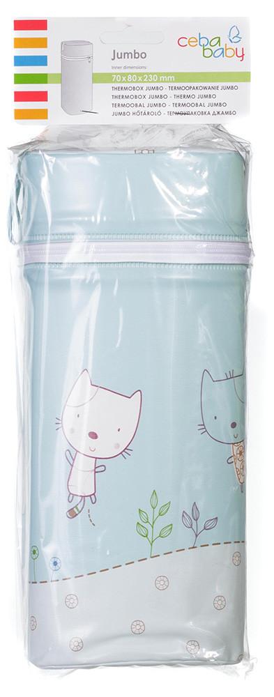 Термоконтейнер Ceba Baby Jumbo 70*80*230мм универсальный  голубой (коты)