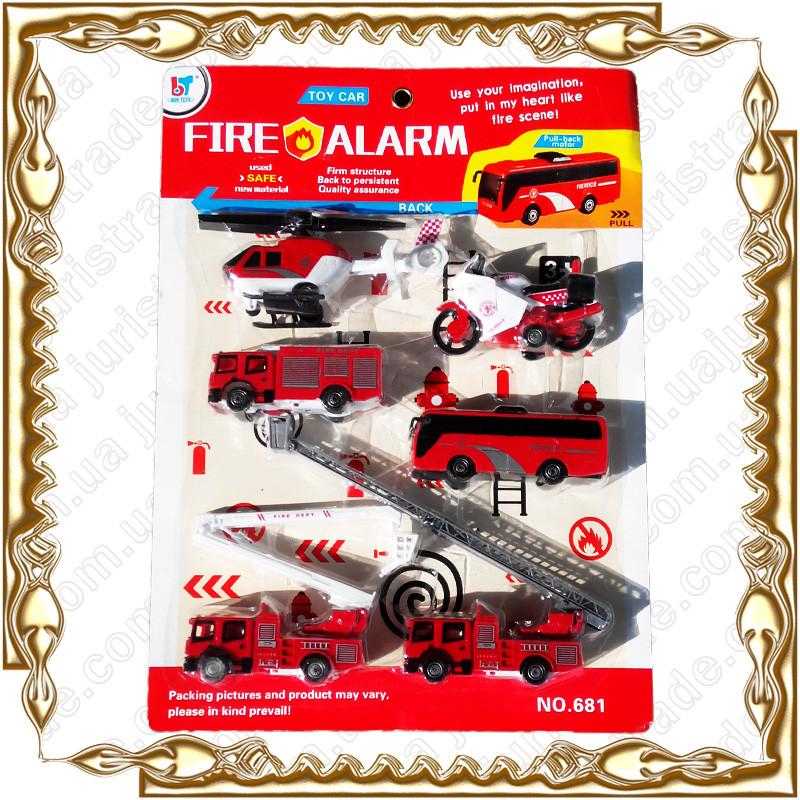 Набор пожарных машин Fire Alarm №681 (6 предм.)