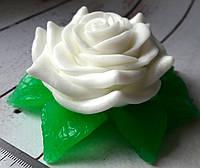 Силиконовая форма Роза с листиками 3D