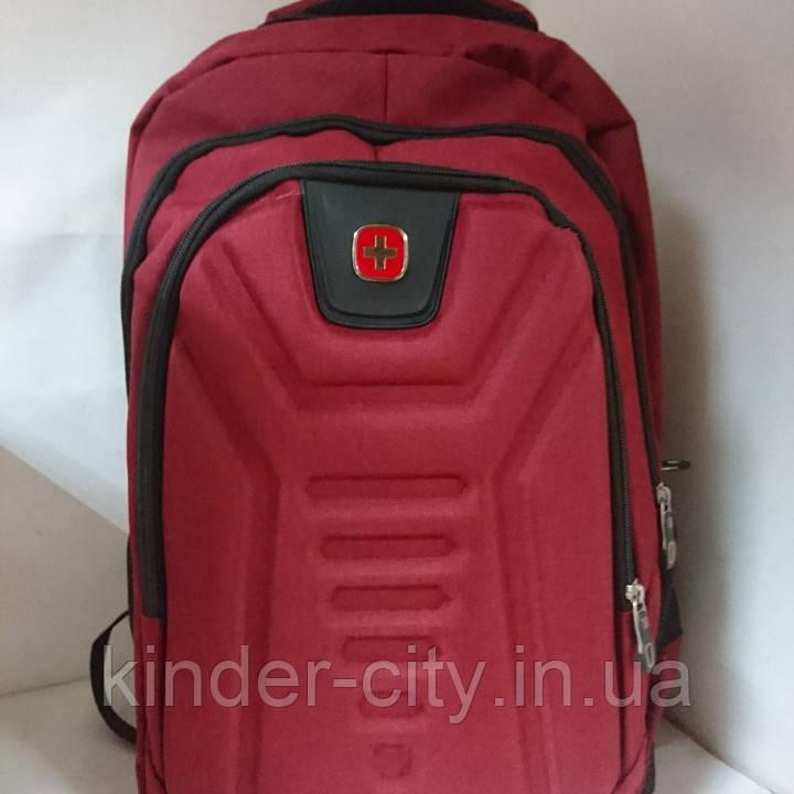 Рюкзак 3отделения, застеж.молния, 1 внутр.и 2 наруж.кармана, USBшнур,  46*32*12см
