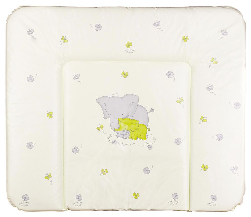 Пеленальный матрас Ceba Baby WD 85*70 multi  слоники салатовый