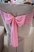 Бант розовый, шифон плотный. Аренда