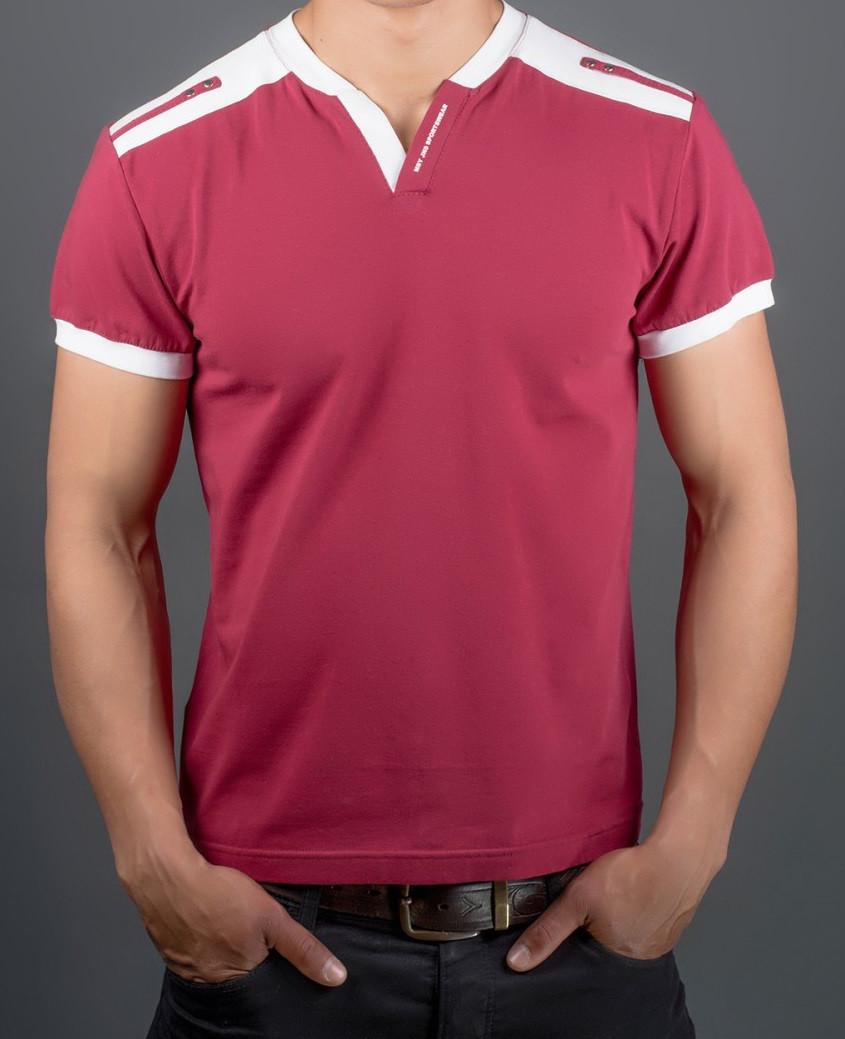 Мужская футболка летняя больших размероввискозная трикотажная (батал)