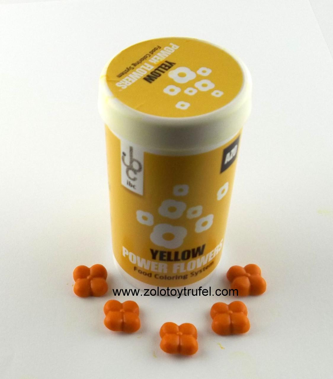 "Краситель для шоколада ""Желтый"" 1 шт. Power Flower AZO Yellow"