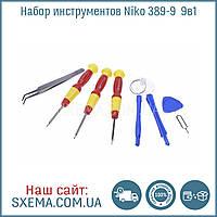 Набор инструментов Niko 389-9 для мобильных телефонов IPhone Samsung Lenovo 9в1