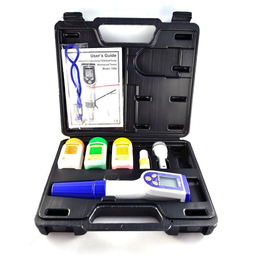 EZODO 7200 РН/ОВП/Кондуктометр/Солемір/термометр водозахищений з АКТ з плоским рН-електродом 7000 EFP4