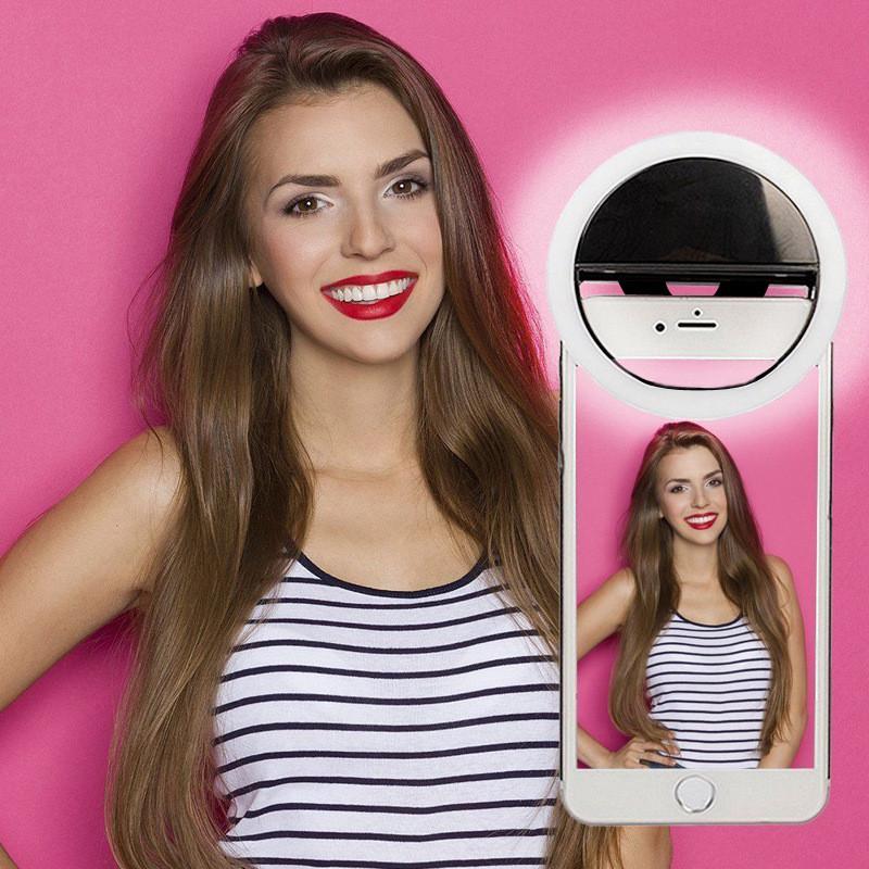 Кольцо-лампа для селфи Selfie ring RK-12 - 4 цвета