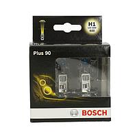 Лампа галогенная BOSCH H1 Plus 90% 12V 55W, 2 шт, 1987301073