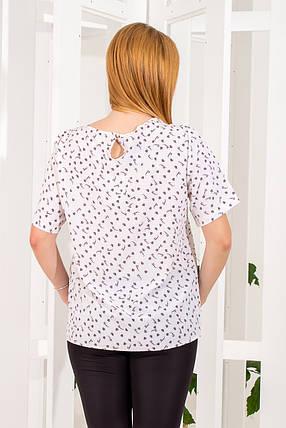 Блузка  258/1 белая, фото 2