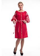 Сукня жіноча Іванна (льон червоний)
