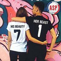 Парные футболки для двоих King Queen влюбленных love is