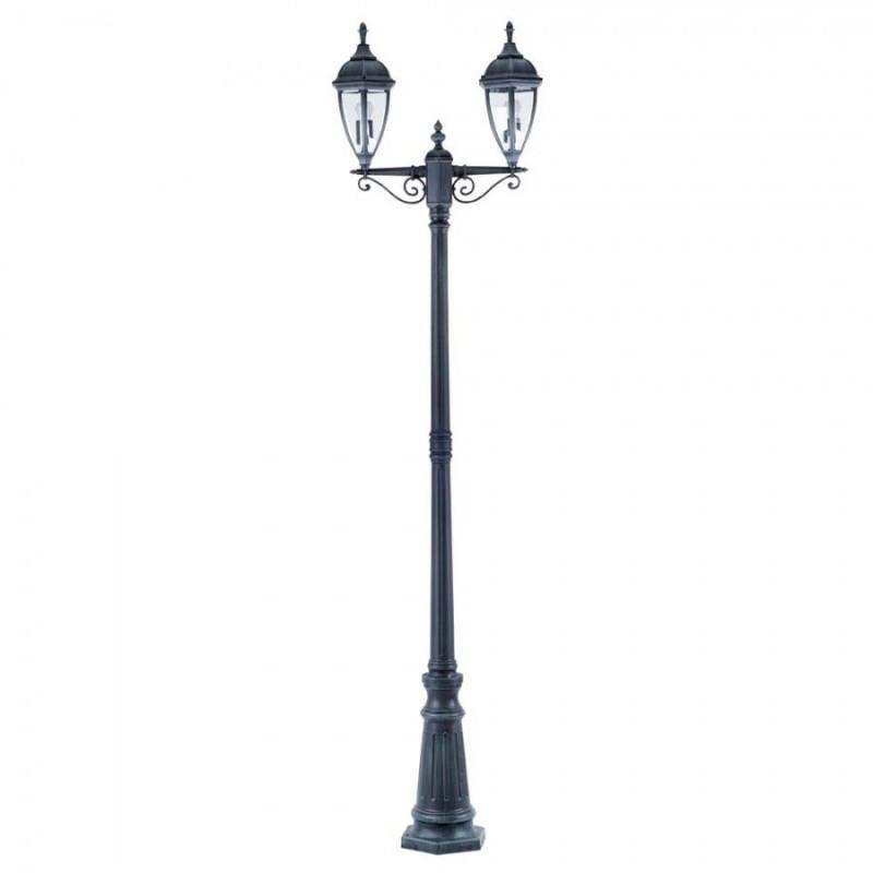 Парковый фонарный столб CALIFORNIA I 235 см 2-рожковый 2*E27