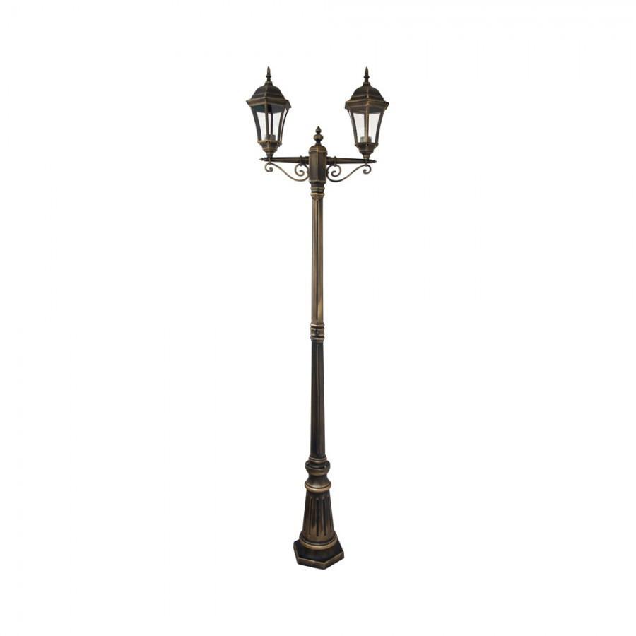 Парковый фонарный столб двух рожковый Dallas I