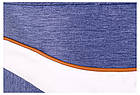 Коляска 2 в 1 Adamex Monte Deluxe Carbon D33 св.синий джинс - белая кожа -рыжий кант (рыжая ручка), фото 9