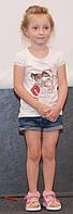Детская футболка для девочек,14WHITE р. 104, 110, 116, 122, Белый
