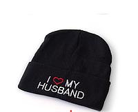 Женская шапка с надписями BEANIE
