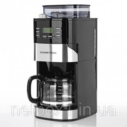 Кофемашина  COURMETmaxx integriertes Mahlwerk 1050W Edelstahl Schwarz, фото 2