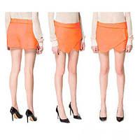 Женская шорты - юбка Абстракция (ORANGE)