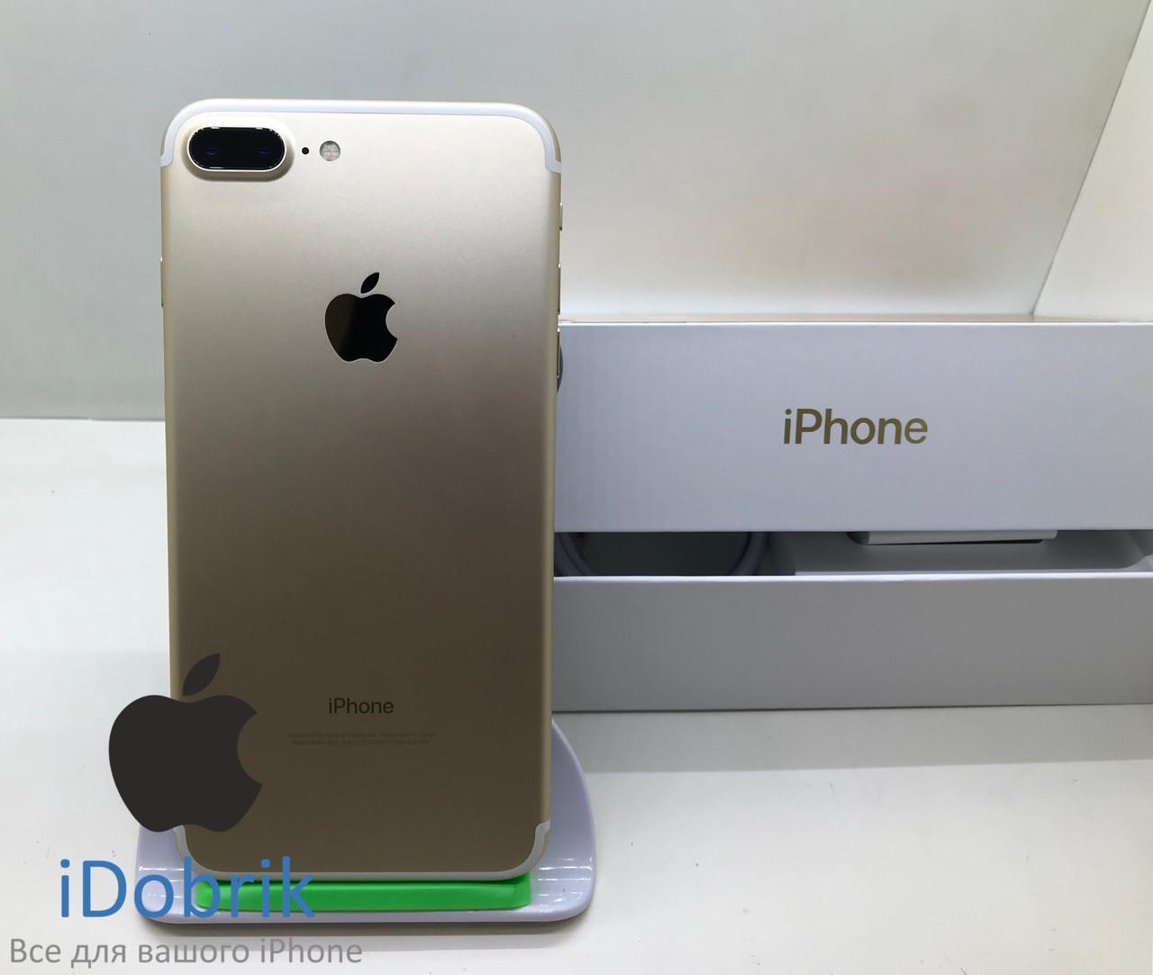 Телефон Apple iPhone 7 Plus 128gb Gold  Neverlock 9/10