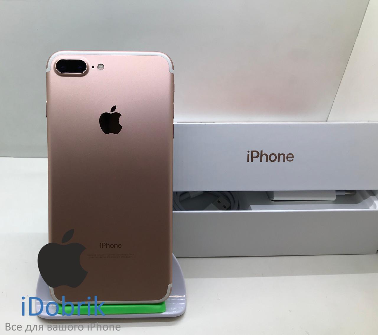 Б/У iPhone 7 Plus 128gb Rose Gold Neverlock 9/10