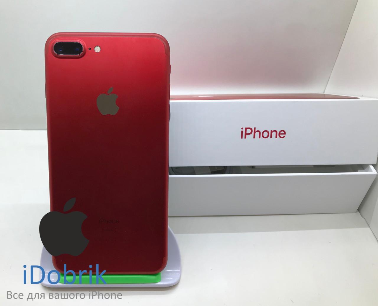 Телефон Apple iPhone 7 Plus 128gb Product Red  Neverlock 9/10