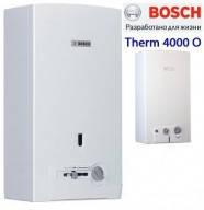 Газовая колонка BOSCH therm 4000 WR 10-2P дымоходная, пьезо, c модуляцией