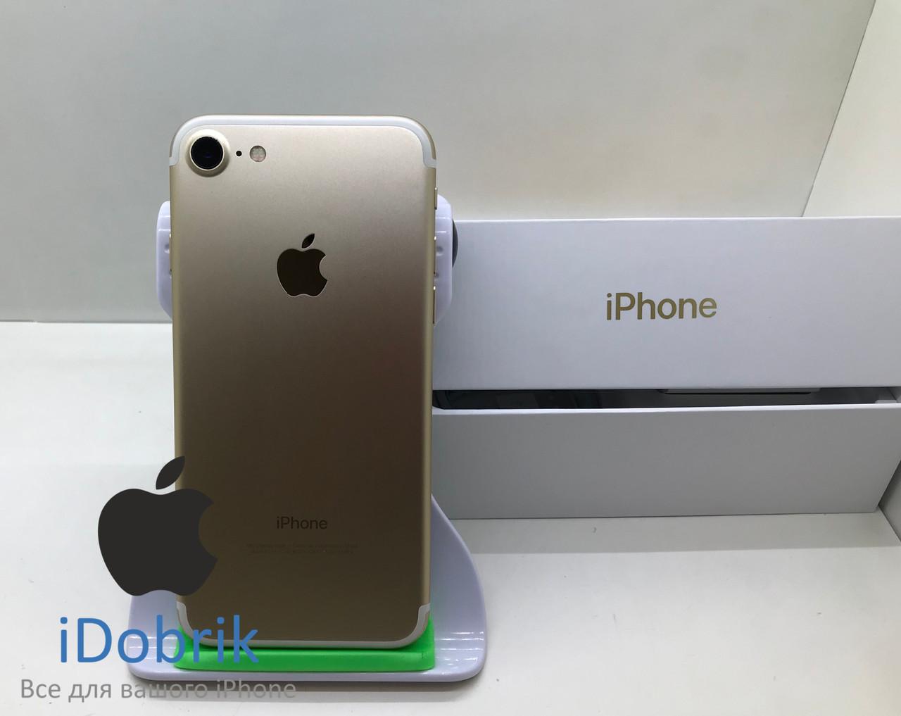 Телефон Apple iPhone 7 32gb Gold Neverlock 9/10