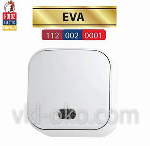 Выключатель с подсветкой белый 1 кл. EVA