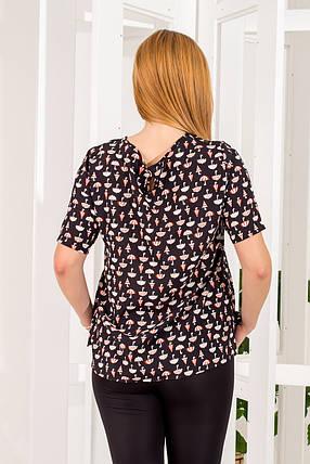 Блузка  258/1 черная размер 50, фото 2