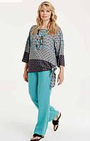 Блуза яркая большого размера Luisa Viola