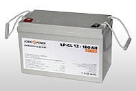 LP GL 12 100 AH Гелевый аккумулятор для ИБП  12V/100Ah ресурс циклов - 1200
