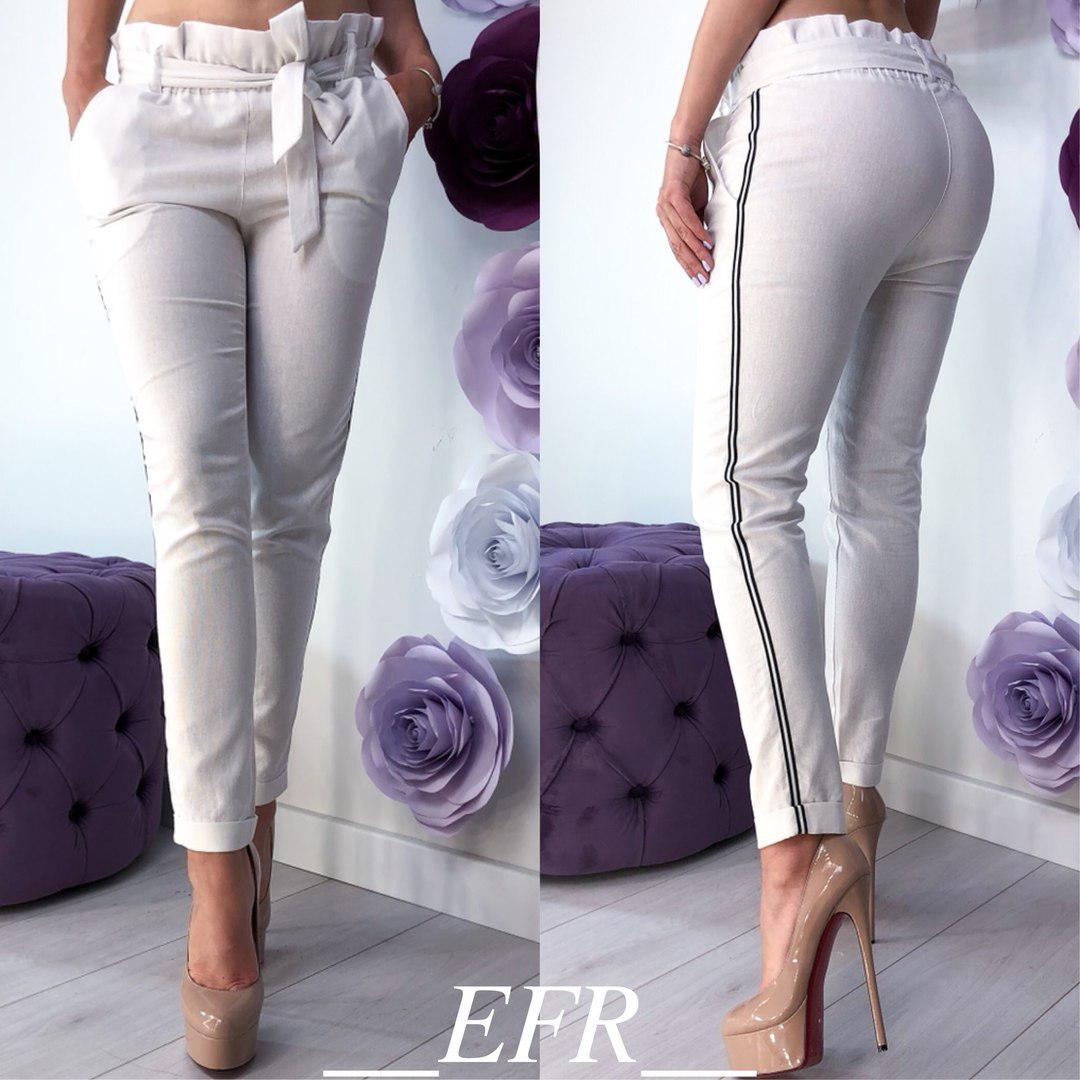 8d41ec70be0ba Женские брюки, лён, р-р С-М; Л-ХЛ (белый) - купить по лучшей цене в ...