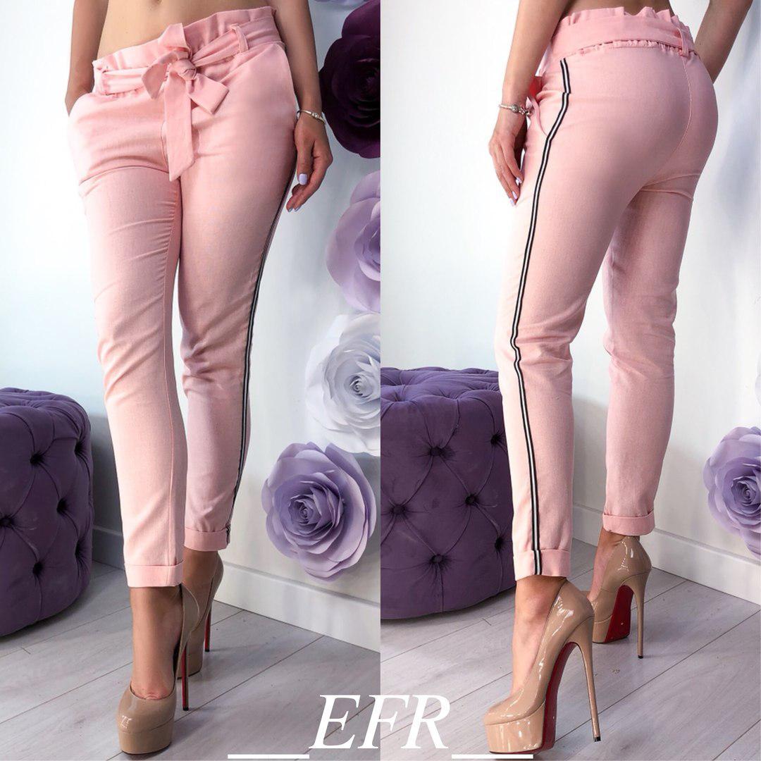 c201a0b7f1993 Женские брюки, лён, р-р С-М; Л-ХЛ (розовый) - купить по лучшей цене ...
