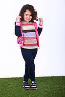 Спортивный костюм для девочки, р. 110, 116, Розовый с синим