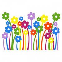 Весенняя виниловая наклейка Daisy Всех оттенков радуги Будут радовать вас вашего ребенка Код: КГ4951