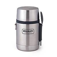 Термос пищевой с ложкой Stanley Adventure 0.5 л серый
